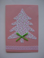 158/365 (ONE by one) Tags: christmas pink handmade card christmascard day158 2015 project365 365days onebyone handmadefortheholidays crafting365day158