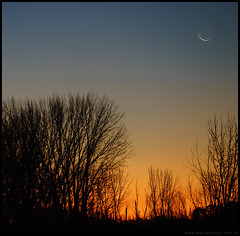 La luna de invierno en el Alto Valle