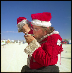 Gifts might be delivered a bit late this year... BRC02080901 (jimhairphoto) Tags: santa 2002 film fuji hasselblad burningman 120mm jimhairphoto