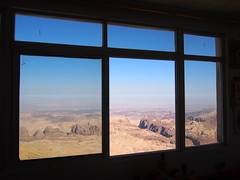 View from a private house somewhere between Aqaba and Wadi Musa. Altitude 1600m!
