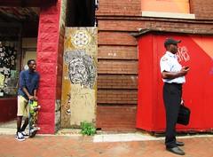 Artscape 2015, Baltimore, Maryland (A CASUAL PHOTGRAPHER) Tags: men portraits graffiti festivals maryland baltimore africanamericans uniforms skateboards artscape