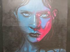 Gaze (pefkosmad) Tags: city urban streetart art public girl face look wall graffiti eyes artist gloucestershire gloucester stare freehand publicart gaze beastie greyfriars