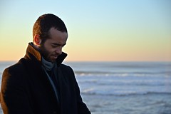 DSC_4134 (mrsdyvz) Tags: sun portugal aveiro nikon d3200 sundown portrait model beach sand sea ocean water waves glasses rock silhouttes horizon harmony sky blue clouds costa nova praia