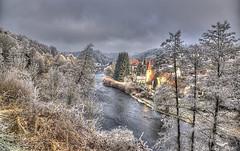 Die Ilz in Hals bei Passau (john_berg5) Tags: winter romantic river fluss valy light vilige passau ilz raureif bäume trees landscape landschaft bayern bavaria