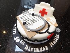 Nurse Cake (Victorious_Sponge) Tags: nurse birthday cake best friend 30th