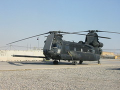 MH-47G Chinook 05-03754/54 160th SOAR, U.S.ARMY. Kandahar, Afghanistan. January 2011. (Aircraft throughout the years) Tags: boeing ch47 mh47g chinook 0503754 160soar 160th soar usarmy kandahar afghanistan january 2011