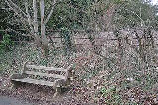 A bench at Mavis Enderby
