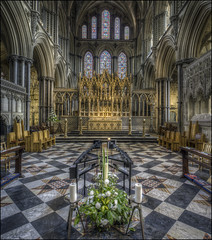 Ely Cathedral 14 (Darwinsgift) Tags: ely cathedral cambridgeshire interior architecture hdr photomatix pce nikkor 24mm f35 tilt shift photostich church