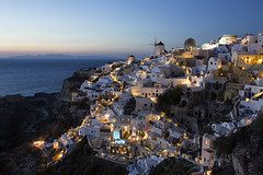 Oia, Santorini (pic fix) Tags: greece santorini holiday travel bucketlist 2016 oia lights landmark windmill sea dusk beautiful scenicsnotjustlandscapes scene