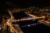 Tyrsuv most v Decine / Tyrs´s bridge in Decin (jaspy24) Tags: decin tetschen night city town bridge most noc mesto river řeka
