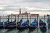 Venice Gondola Parking (njk1951) Tags: venice venezia gondola gondolaparking italy italia iconicvenice rivadeglischiavoni sangiorgioisland gondole holiday vacation lateautumn cloudydayinvenice