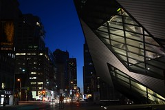 ROM crystal (hogtown_blues) Tags: toronto ontario canada downtowntoronto bloorstreetwest bloorstreet queensparkavenue avenueroad royalontariomuseum rom night afterdark earlymorning