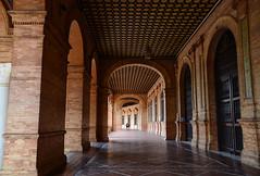 Arcade of the Plaza de España, Seville Spain (Gail K E) Tags: españa plazadeespaña sevilla seville spain andalucia