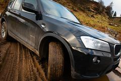 Filthy Fun! There's an off-roading track... (grahamrobb888) Tags: nikon nikond800 sigma sigma20mmf18 scotland perthshire dunkeld mud bmw beemer 4x4 x3