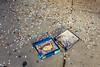 America in Pieces (Paul Katcher) Tags: jigsawpuzzle spill sidewalk america brokenpieces