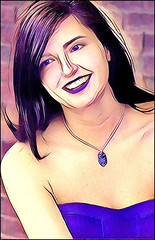 (Cliff Michaels) Tags: nikon photoshop pse9 prisma girl face portrait pretty woman
