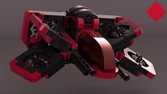 Reaper1 (Umbra-Manis) Tags: space spaceship starfighter lego moc digital mecabricks
