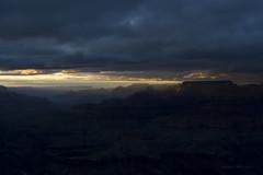 GC2_8_17Sunset1 (Sandi Beaudoin) Tags: grand canyon lipon point sunset rocky glow sunbeam sky blue mountain cloudy arizona golden plateau landscape national park luminated lipan