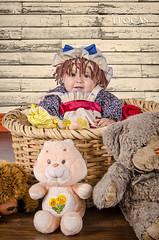 Muequita de Trapo (Epocas Art Photo Studio) Tags: portrait baby girl doll retrato nia beb fantasy infantil mueca fantasa epocasartphotostudio