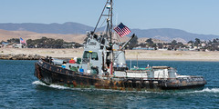 Tug boat style fishing boat returning from sea (mikebaird) Tags: california unitedstates vessel tugboat whales morrobay tug humpback dososos commercialboat fishingboatmorro baymikebaird21may2007seasnail 16july2015