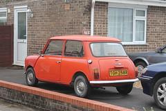 1976 Leyland Cars Mini 1000 (charlie cars) Tags: red orange classic vintage austin cool small mini spot retro 1970s rare leyland tgh258r