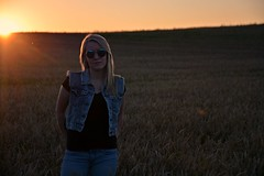 Jaymee 2 (Braden Bygrave) Tags: sunset summer portrait people sun canada hot cute girl beautiful cool nikon women warm view gorgeous awesome like follow fave jeans waterloo jacket beautifulwomen blonde pro artful jeanjacket edit feild phography kitchner nikonphotography d7100 nikond7100 18140mm faveforfave