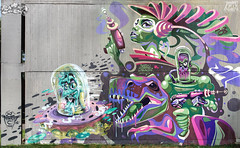 space invasion (mrzero) Tags: italy streetart milan art wall mos graffiti mural mrzero meetingofstyles yubaba keydetail