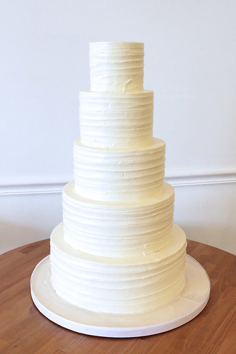 Ribbon Texture Buttercream Wedding Cake