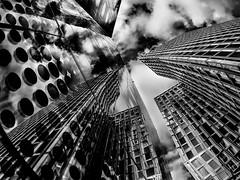 Dancing Towers Hamburg (stefan.lafontaine) Tags: hamburg architektur architecture europe deutschland germany olympus em1 zuiko pro urban black white schwarz weiss blanco y negro blanc et noir blackandwhite schwarzweiss blancoynegro blancetnoir monochrome