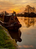 Weaver at sunset (3 of 5) (andyyoung37) Tags: frodsham riverweaver canalboat refelections sunrise england unitedkingdom gb