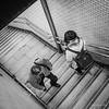Morning Metro, Shinjuku (Paul Perton) Tags: fuji fuji23mmf14 japan metro shinjuku tokyo xpro2 blackandwhite bw candid morning square street streetphotography urban