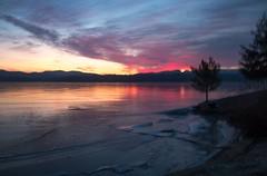 Stormy Sunrise (SueZinVT) Tags: storminess stormsky lakebomoseen sunrise vermont snow silhouettes