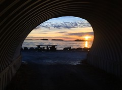 Sun pipe (STTH64) Tags: tunnel twisted tube sun sunset sea seaside sky clouds ice shadow