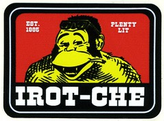 "IROT-CHE sticker. Inside the sticker pack added to Sentpope's 2016 ""Priority Mail Zine No. 3"". (fotoflow / Oscar Arriola) Tags: california ca west coast irot che ben davis gorilla character graffiti tag sticker street art artist postal label labels stickers chicago 2016"