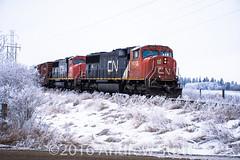 411 (awstott) Tags: emd canadiannationalrailway cnr sd70i 5613 cn locomotive sd75i 5661 train edmonton alberta canada ca