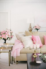 4-pretty-in-pink_cool-chic-style-fashion (Cool Chic Style Fashion) Tags: happyweekend archittettura blushpink champagnecocktails chandelier collagefashion lacedress livingroom peonies pink quotes roses sequins velvet vignettes