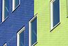 Blue and green building (Jan van der Wolf) Tags: map15178vv building gebouw ramen window perspective perspectief pov architecture architectuur arena amsterdam lines lijnen bricks bakstenen blue green blauw groen composition