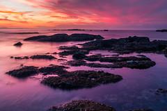 Here comes the night (mark5photographic) Tags: sea seascapes seascape seashore beach blue water tidepools landscape light long clouds ocean california coast
