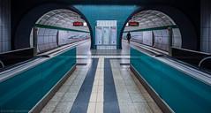 I definitely would've loved to re-tile this (katrin glaesmann) Tags: hamburg station tube ubahnhof metro underground messehallen u2 hvv green tunnel dankemichifürdentip