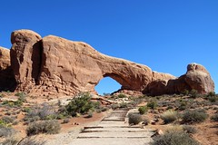 North Window Arch (Patricia Henschen) Tags: pathscaminhos northwindowarch arch sandstone rock formations archesnationalpark arches nationalpark moab utah