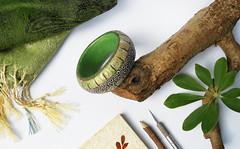Polymer clay bangle (Luana Sgammeglia) Tags: gioiellidonna jewelry bangle bracciale cuff polymerclay verde green girl handmade handsculpted canicattì fashion moda accessori accessories pulsera
