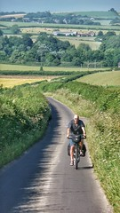 Riding through rural Dorset