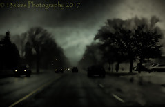 Sundays Epiphany (HSS) (13skies) Tags: epiphany darkseries darkness dark road street vehicles lights city trees lonely night effect topaz slidersunday slider postprocessing editing creative creating markings happyslidersunday driving rains raining storms trouble movement cars