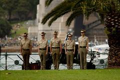 People Celebrating Australia Day (Photo Noir) Tags: milsonspoint sydney sydneynsw sydneyharbour australiaday australiaday2017 harbour har celebration multicultural fun army artillery 21gunsalute