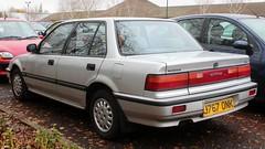 J767 ONK (Nivek.Old.Gold) Tags: 1991 honda civic gl auto 4door 1396cc wilshersgarage wimpole