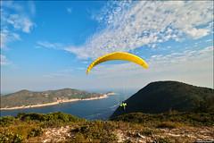 Paragliding in Long Ke Wan (TOMMY AU PHOTO) Tags: hongkong saikung longkewan longke paragliding paragliderpilot mountains outdoors nature water ocean clouds blue sky catchycolorsblue landscape 浪茄灣 西貢 香港