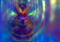 Meditating (CaBAsk! on and off. Thank U for the visit ♥) Tags: olympus art abstract digital manipulation bright colors expression imagination spirit serene inner state meditation buddah illumination norway rainbow light blue photoshop clarity zen vision thougt mind energy