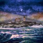 Seacoast Lighthouse in Late Winter thumbnail