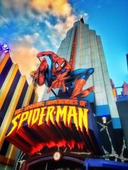 The Amazing Adventures of Spider-Man (TAYLJ158) Tags: theamazingadventuresofspiderman spiderman marvelsuperheroisland marvel superhero darkride themepark amusementpark outdoor outside sunset mobilephotography iphone6s jennifertaylor universalorlando islandsofadventure daytime