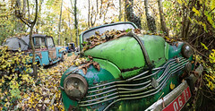 Lost oldtimer HDR PANORAMA - Creative Commons (Wendelin Jacober) Tags: panorama creativecommons lostplace lostoldtimer